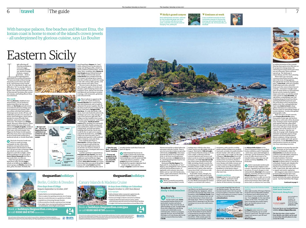 The Guardian's guide to Eastern Sicily