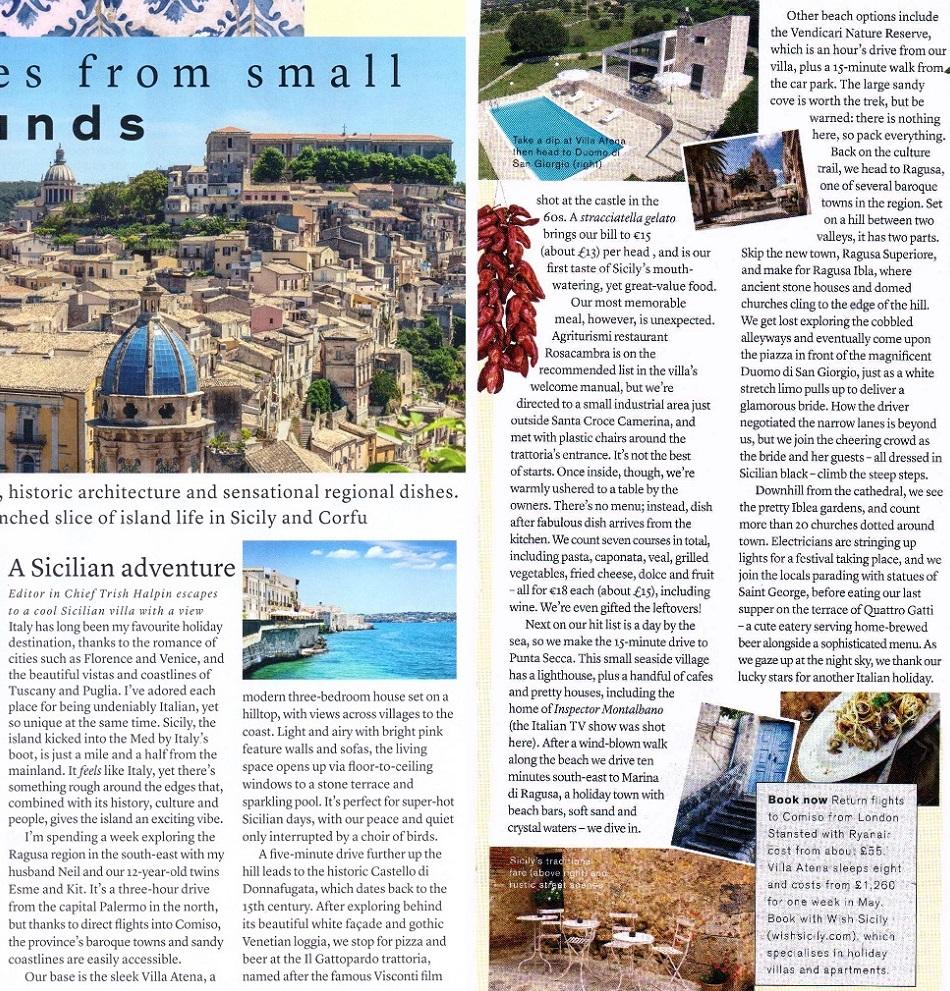 Wish Sicily in Marie Claire magazine