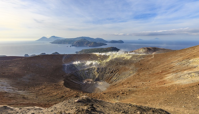 Aeolian Islands, the main crater of Vulcano.
