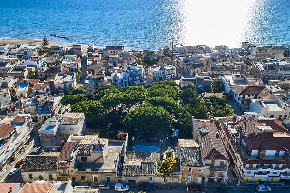 Villa La Forma dell'Acqua, aerial view