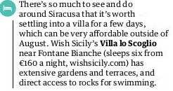 the Guardian recommends our Villa Lo Scoglio