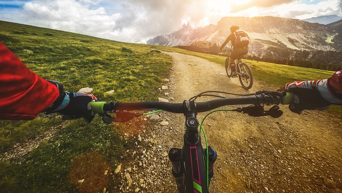 Guided mountain bike excursions