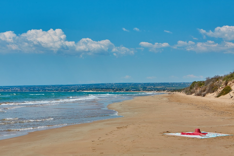 The beach on your doorstep at Villa Marea, Pozzallo