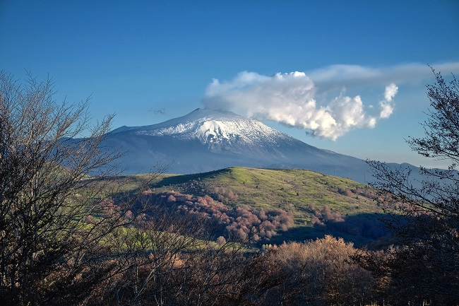 Etna seen from the Nebrodi park