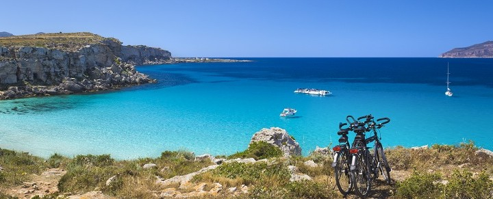 Cala Rossa - beautiful bay of Favignana island near Sicily.