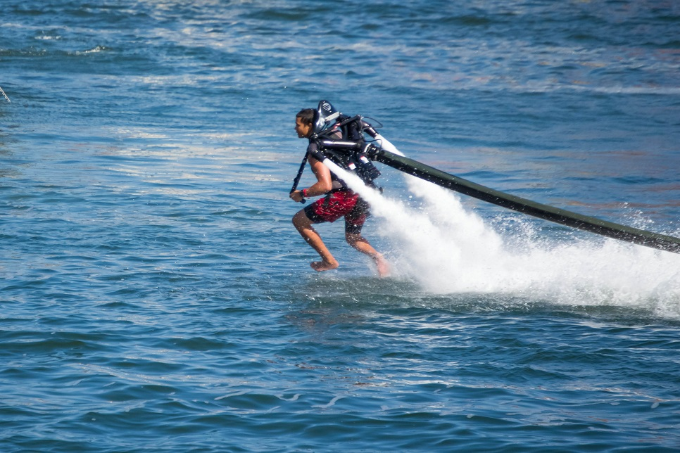 Flyboarding in Sicily