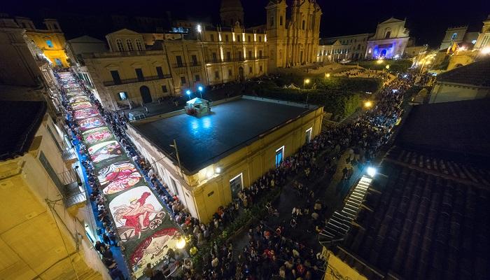 Infiorata festival in Noto