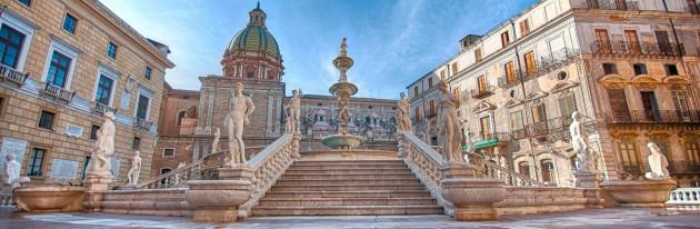 Piazza Pretoria, Palermo in Sicily.