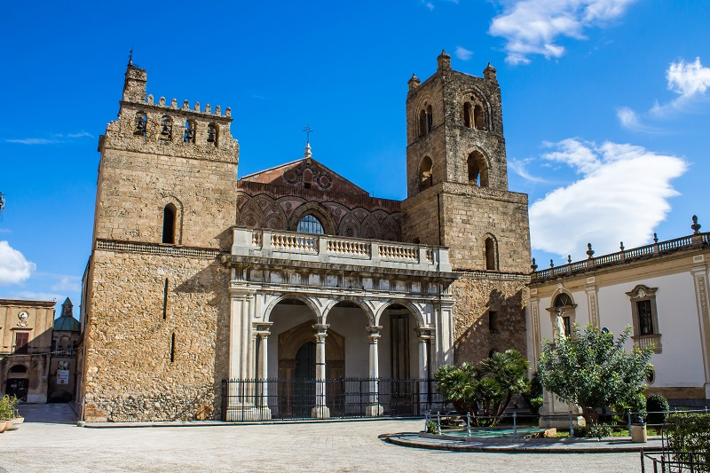The cathedral in Monreale, near Palermo.