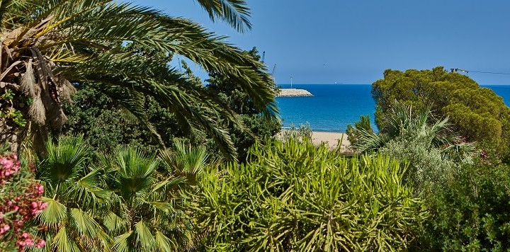 the beach on your doorstep at Villa Marea