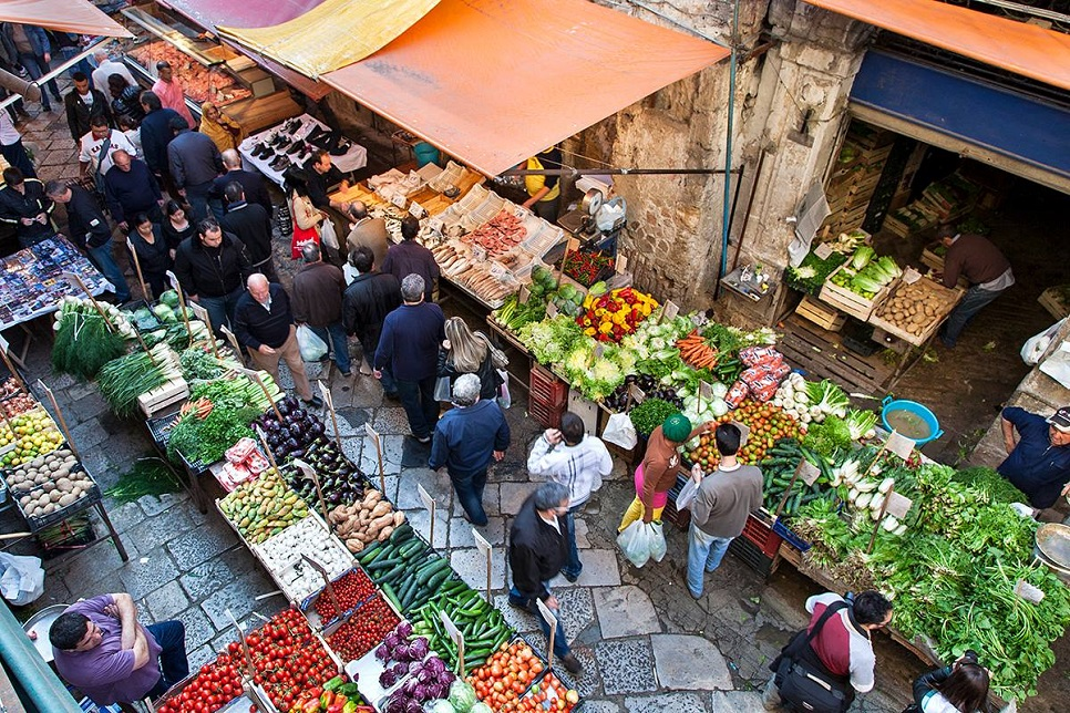 """Street Market """"La Vucciria"""" in Palermo"""
