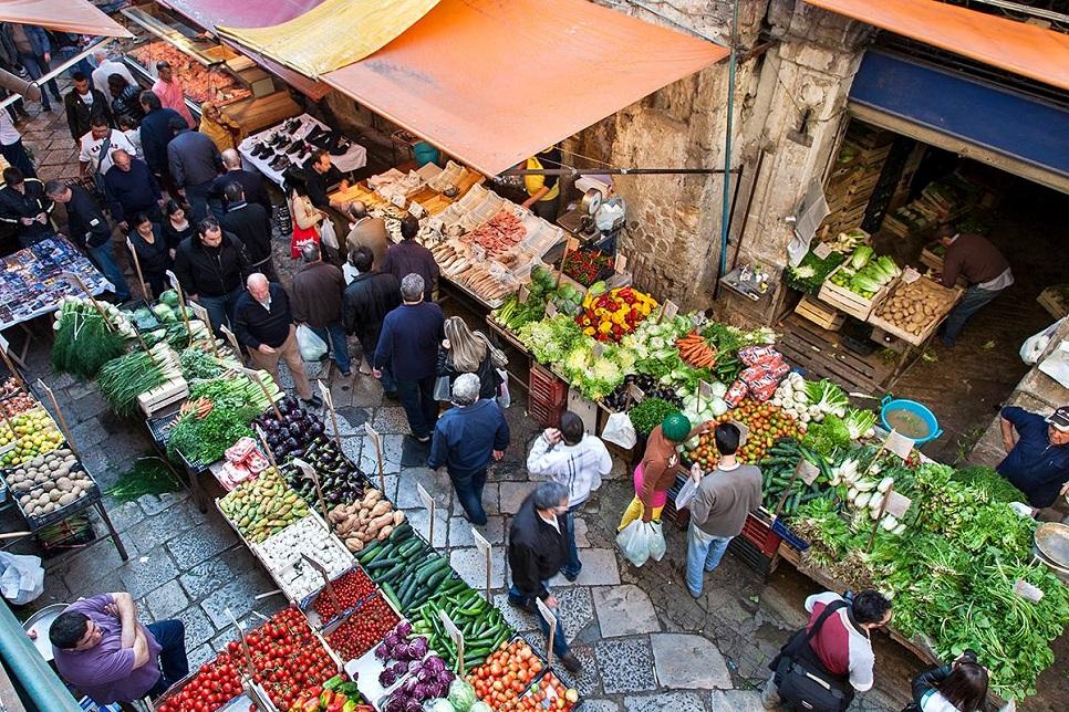 Flea market in Palermo Sicily