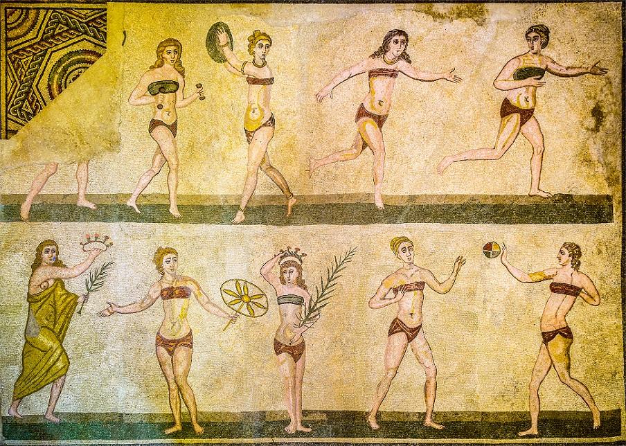 Roman mosaics at Villa Imperiale del Casale