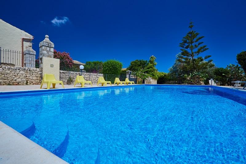 The large pool at Villa Punta Secca