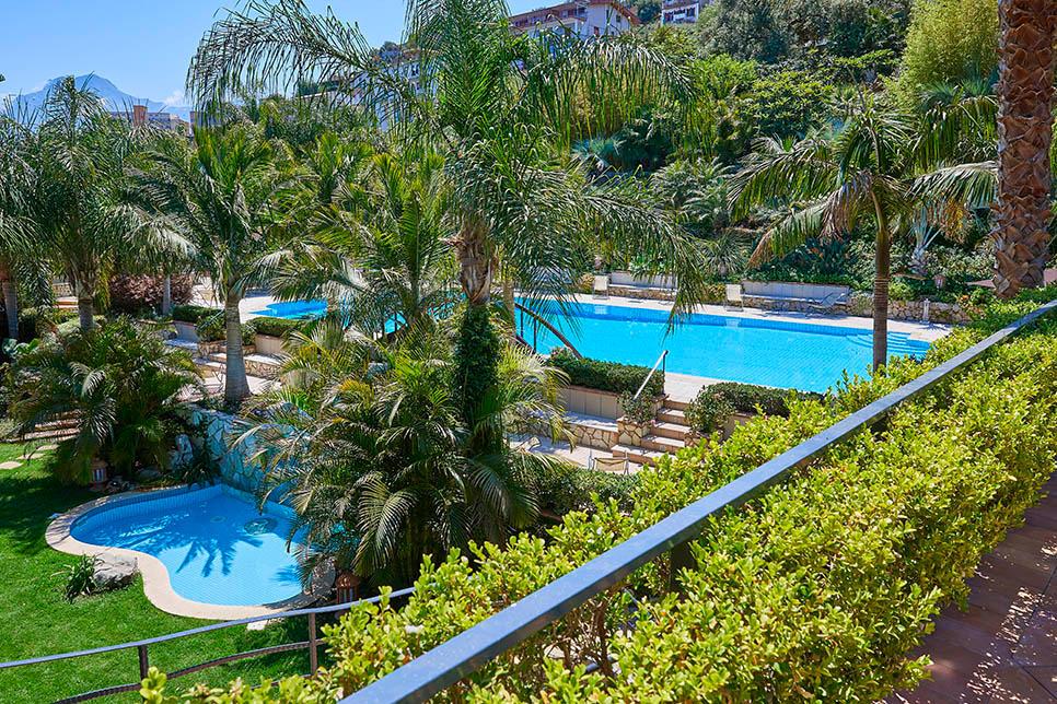 The three pools at Villa Cecilia Trabia