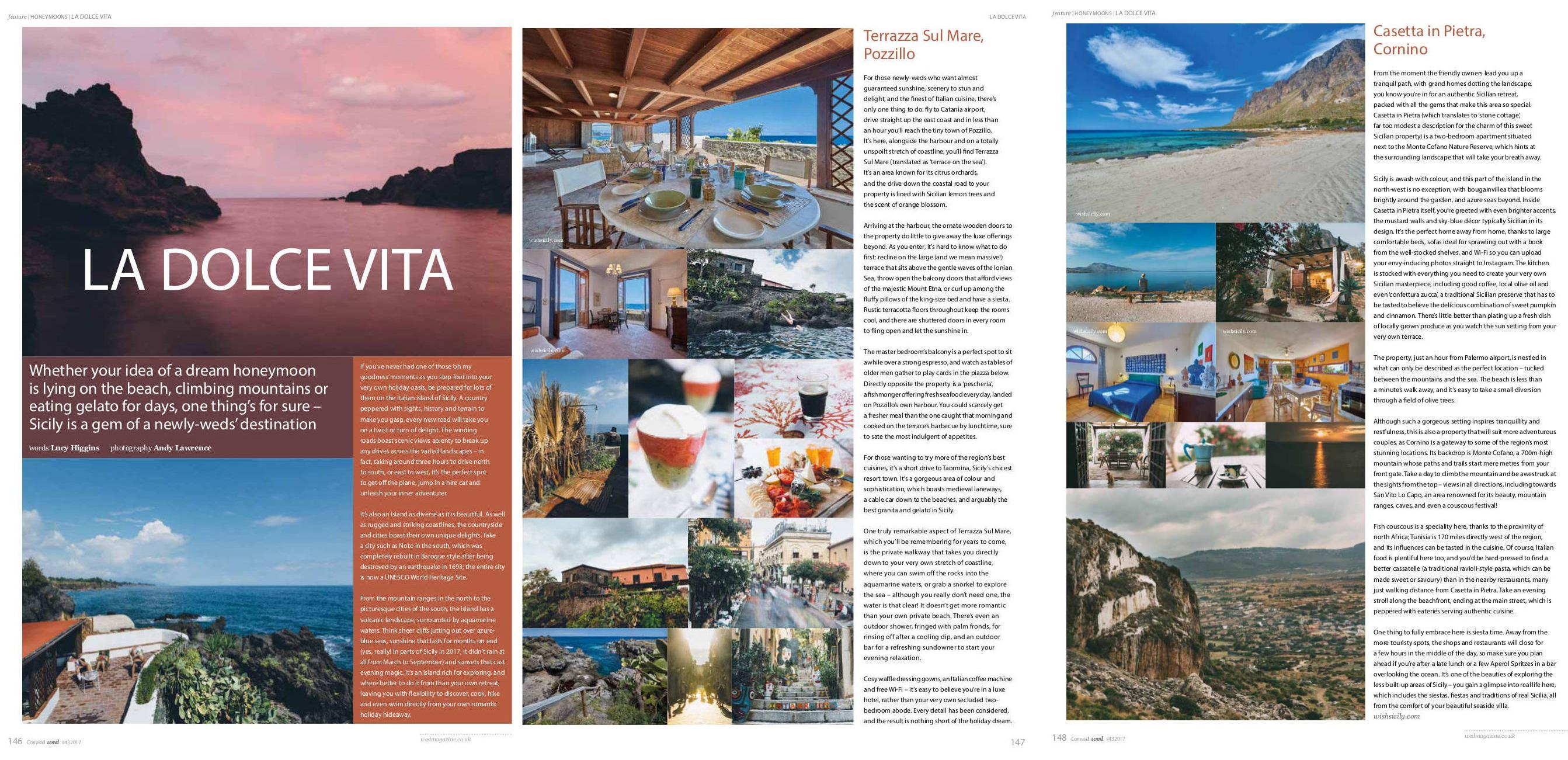 Terrazza sul Mare and Casetta in Pietra in Wed Magazine