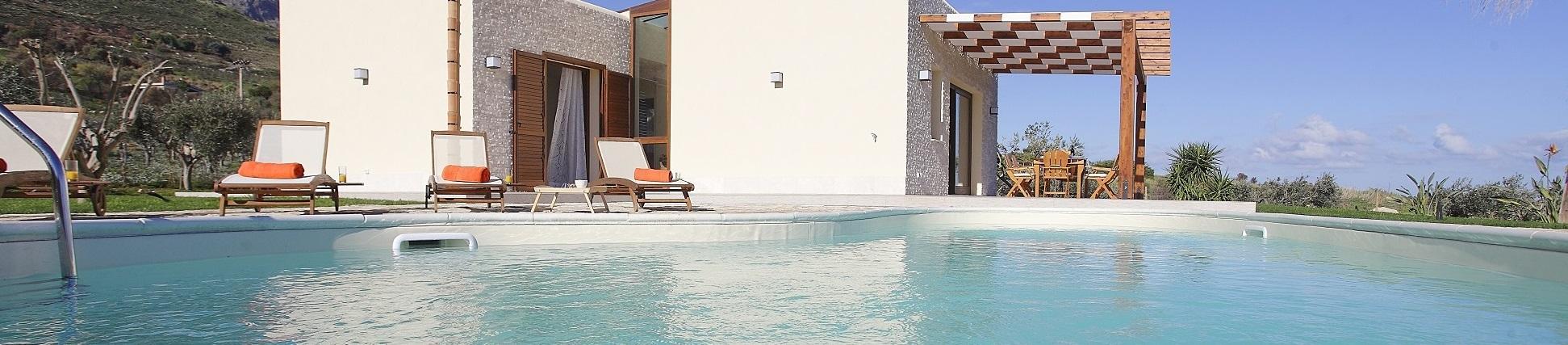 Ville in Sicilia con piscina vicino Scopello