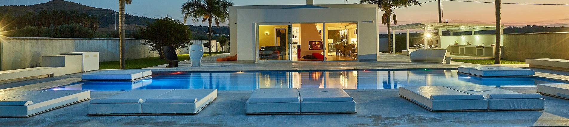 Ville in Sicilia con piscina riscaldata