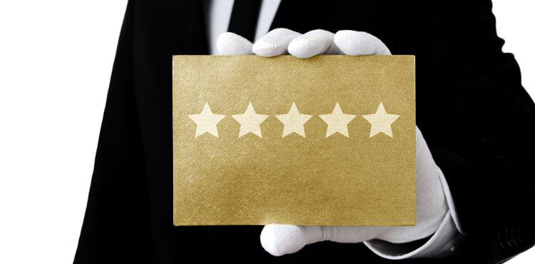 Encourage your client to write a review