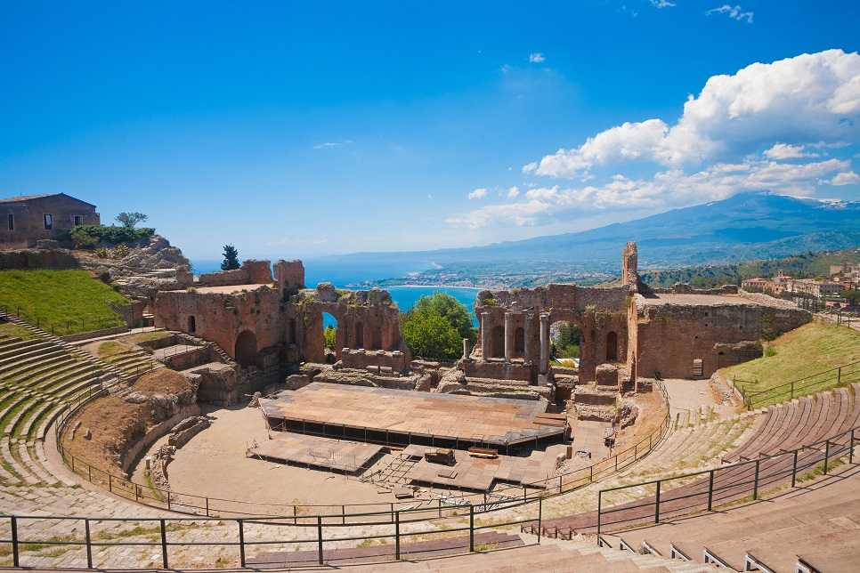 Slider 2 >> the Greek theatre of Taormina | Wish Sicily