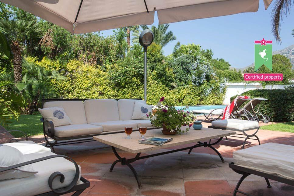 Sicily Garden Furniture Casa azzurra villas in sicily wishsicily holiday rentals sicily casa azzurra mondello 21729 workwithnaturefo