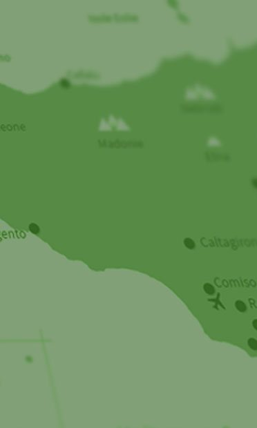 Search all holiday villas on the map of Sicily